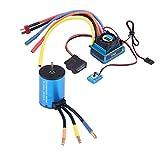 Tbest 3660 3300KV/3800KV Motor sin escobillas 120A ESC Combo Set para 1/8 1/10 RC Car(3660 3800KV+120A)