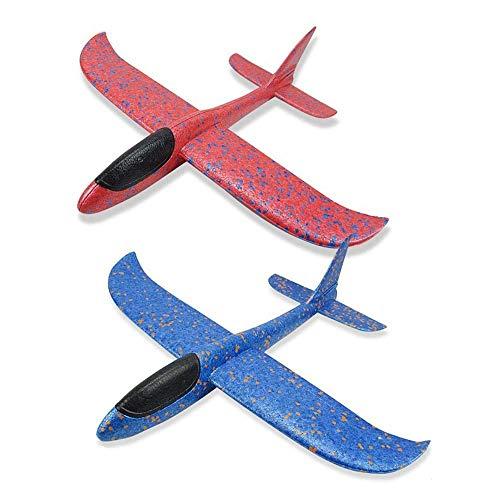 Funny House Planos de Espuma ,2 PCS Lanzan los Planeadores de Whirly Glider Juguete Lanzamiento de Mano Modelo de Avion, Favores de la Fiesta