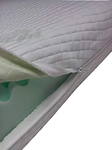 Mail2Mail Matratzenbezug Allergikergeeignet mit 4-seitigem Reißverschluss aloevera Easy clean, Matratzenschoner, Matratzenbezug alle Größen alle Höhe, (140 x 200 cm)