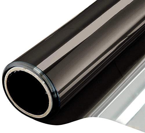 NewStar Sonnenschutzfolie | selbsthaftende Fensterfolie | UV-Schutz & Sichtschutzfolie, Kratzfest,Verdicken Materialstärke 0.1 mm (Schwarz Grau, 60 x 200 cm)