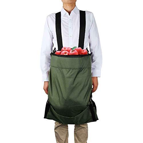 BE-TOOL Pflückenschürze, 1 Stück, Gartenschürze, verstellbare Schulter, Oxford, wasserdicht, langlebig, Gartenschürze für Obst, Zitrusfrüchte, Apfel, Gemüse