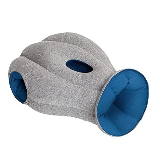 Almohada De Avestruz Artefacto De Viaje Ayuda para Dormir Almohada para La Siesta del Estudiante Almohada para La Siesta (Color : Blue, Size : 15.7 * 9.8 * 15.7inch)