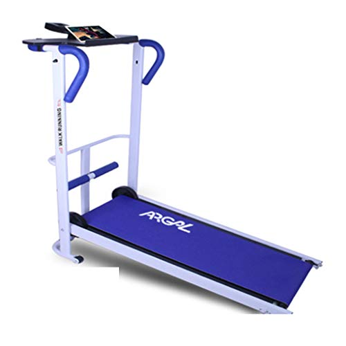 Best Review Of Treadmills Mini Mechanical Running Machine Multi-Function Machine (Color : Blue, Size...