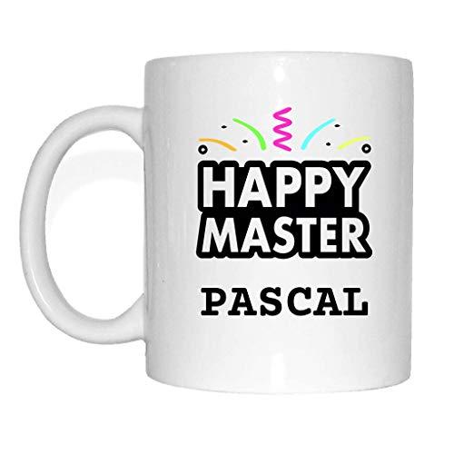 JOllify Tasse Abschluss Geschenk für PASCAL Becher Mug MD5837 - Farbe: weiss - Happy Master