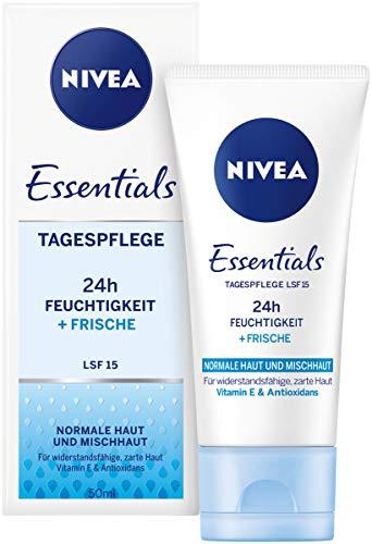 Nivea dagcrème voor 24 uur vocht + frisse moisturizer met SPF 15, dagcrème voor normale & gemengde huid (1 x 50 ml)
