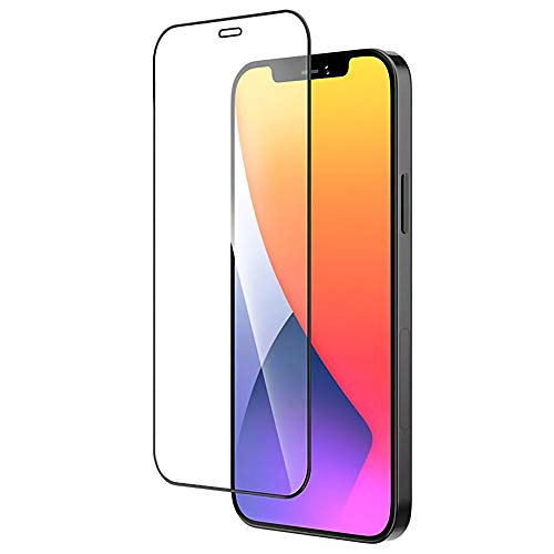 Evour - Edge to Edge Matt Curvy Border Premium Tempered Glass Screen Protector for iPhone 12, iPhone 12 Pro, 6.1 Inch Slim Thickness 9H Hardness Surface
