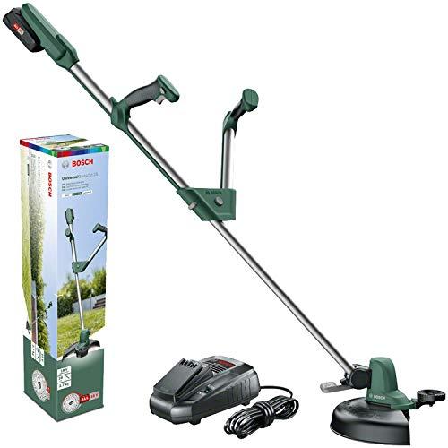 Taille-herbes sans fil Bosch - UniversalGrassCut 18 ( 1 Batterie 18 V 2 Ah, Chargeur, Ø du cercle de coupe 26 cm)