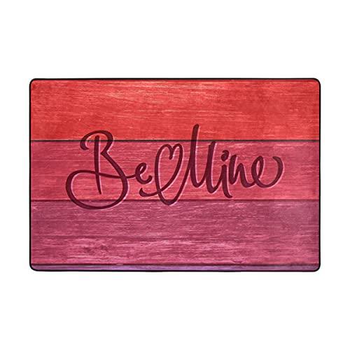 MALPLENA Be Mine Tapis en bois antidérapant pour salon, salle à manger, chambre à coucher, cuisine