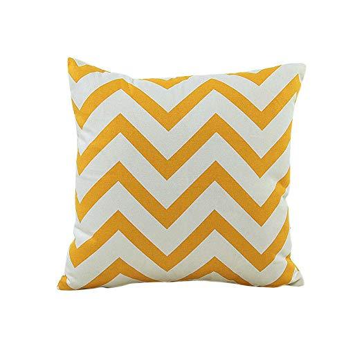 Sunnywill Home Auto Bett Sofa dekorative Wellenmuster Fall Kissen Kissenbezug (Gelb)