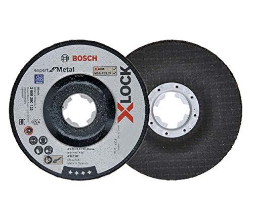 Bosch Professional 5 Stück Schruppscheibe Expert for Metal (für Metall, X-LOCK, Ø 125 mm, Bohrung Ø 22,23 mm, Zubehör Winkelschleifer)