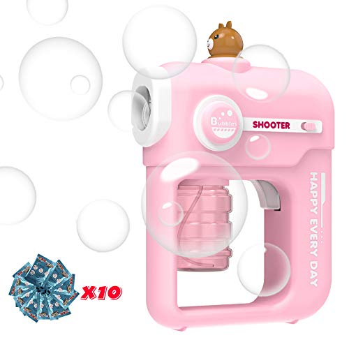 YaGee Bubbles Shooter Toy,Bubble Blower Cartoon Gun Design for Kids and...