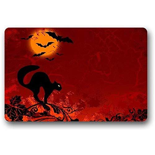 SHENGXING Zerbino Scottshop Fashion Custom Halloween Cat 60 X 40 Cm Decorazioni per La Casa Tappeto per Interni/Esterni/Doccia/Pavimento/Bagno