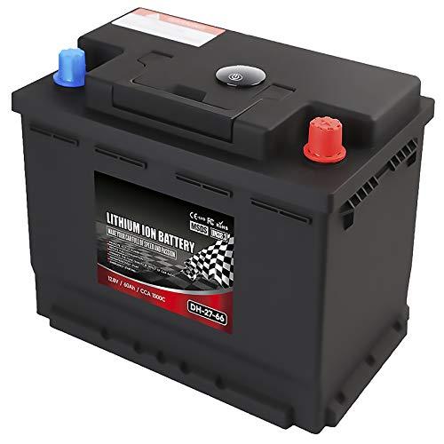 LeiQuanQuan Batería De 12V 60AH LIFEPO4 con Tablero De BMS para Una Vida Más Larga, Ciclo Profundo, Batería De Coche RV Batería Impermeable (Power : 12v 60ah)