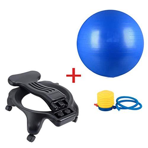 Wly&home Silla de balón de Equilibrio, Pelota de Yoga de Estabilidad de Ejercicio con Bola de Yoga de 55 cm Silla ergonómica para el hogar y la Oficina Escritorio
