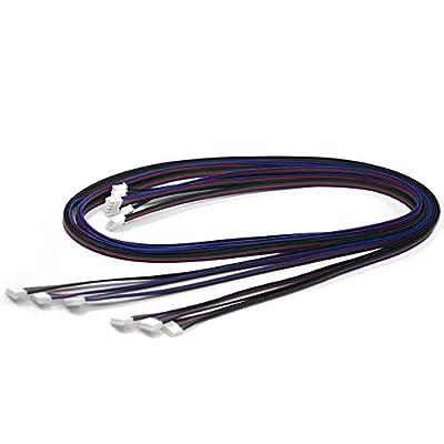 Iverntech 6pcs 1M XH2.54 4pin to 6pin Terminal Stepper Motor Cables for 3D Printer Nema 17 Stepper Motor