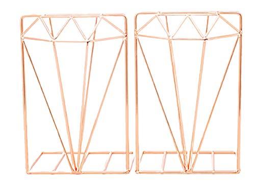 Sujetalibros manuales antiarañazos, extremo de libro estable y resistente al desgaste, no deformable Soportes de libros material metálico Sujeta libro | oro, oro rosa | tamaño: 13.5 * 9.5 * 19.5cm
