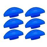 AWM Trampolin Endkappen Set blau 6 Stück Schutzkappen 25 mm Sicherheitsnetz Kappen *Halbrund