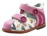 Ahannie Sandales en Cuir avec Soutien de la Voûte Plantaire Bébé Garçons Filles, Chaussures à Bout Fermé pour Enfants,Chaussures Premiers Pas Bébé(Color:Rose, Size:19 EU)