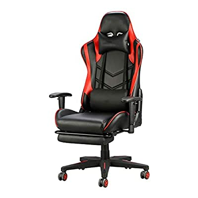 QYDJD Gaming Chair PC Computer Video Game Racing Gamer Chair High Back Reclining Executive Ergonomic Desk Office Chair (red)