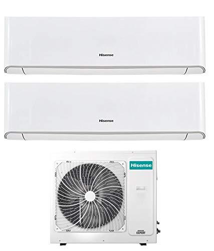 Climatizzatore Dual Split 12000 + 12000 Btu, Inverter, A++/A+, Gas R32, Wi-Fi, Serie Energy