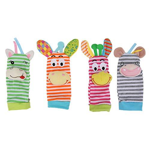 Materiales no tóxicos y respetuosos con el medio ambiente Calcetines de sonajero, Calcetines de sonajero para bebés, Kinderparten inodoro para niños Hogar de niños(011+012)