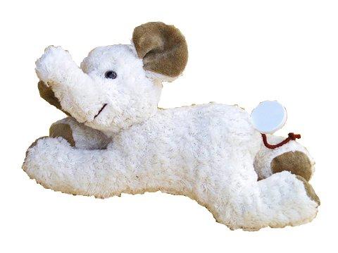 Kallisto Elefant, mit Spieluhr, ''Schuberts Wiegenlied'' ca. 29 cm, weiß
