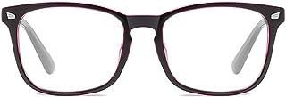 ZEVONDA Women Glasses - Vintage Black Frame Classic Oval Clear Lenses Fashion Glasses Men Women Non Prescription Anti Blue Light Eyewear