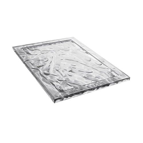 Kartell Plateau Dune Large, Plastique, Transparent, 38x55x3 cm