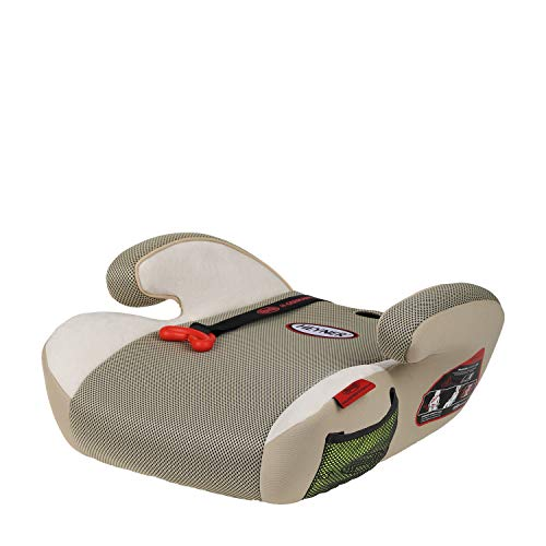 HEYNER® Autokindersitz Sitzerhöhung 15-36 kg Kinder-Auto-Sitzerhöhung extra schmal, für Sportsitze geeignet, Sitzerhöhung Kindersitz Farbe Summer Beige