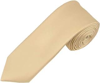 Solid Beige Boy's Necktie
