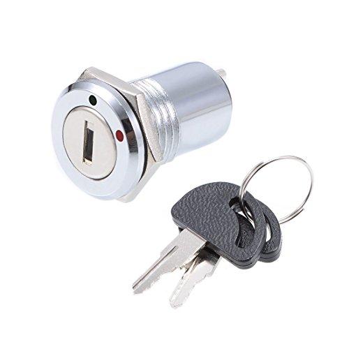 Sourcingmap 16mm 2posizioni no off elettrico blocco chiave a pulsante interruttore S1601