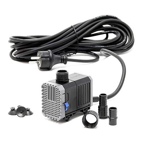 SunSun CHJ-500-10 Teichpumpe 500l/h 7W, als Filter- oder Bachlaufpumpe, Kabellänge 10m