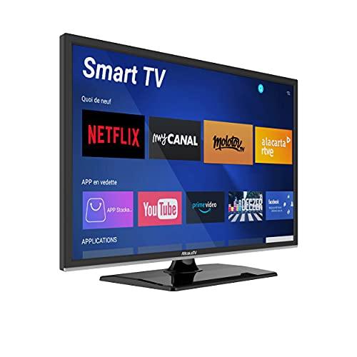 "Smart TV 19"" 47 cm Android Connectée Camping Car Camion Fourgon Internet WiFi DVD 12/24V - MobileTV Silverline - Garantie 3 Ans"