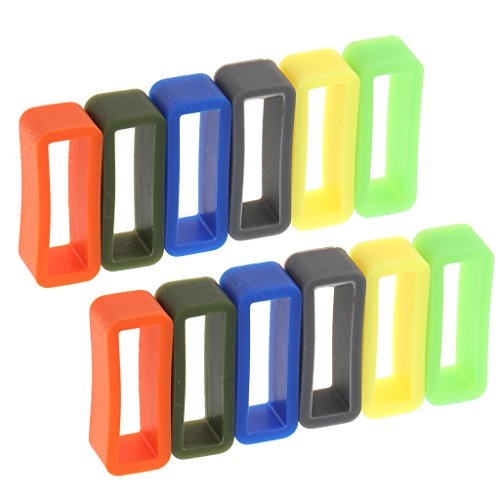 Sharplace 12 Stücke Ersatz Gummi Uhrenarmband, Uhr Schlaufe Gummihalter für Uhrenarmbänder - 22mm.