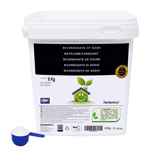 NortemBio Bicarbonate de Soude 6 Kg, Intrant de la Production Biologique, sans Aluminium, Qualité...