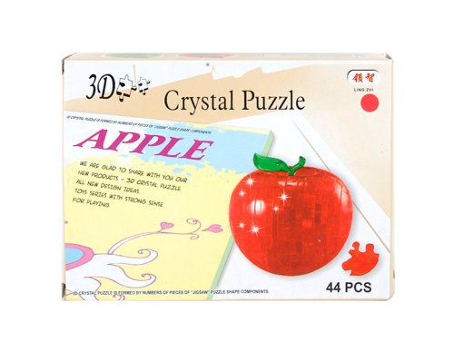 No.9003 3D Crystal Jigsaw Apple Puzzle (Red) + Worldwide free shiping