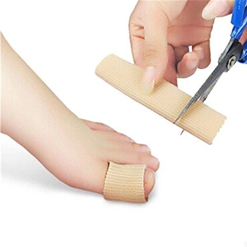 Top 15 cm Tissu Gel Tube Ribbed Bandage Doigts et orteils Protecteur Pied Mains Soulagement De Douleur Couverture Pour Corns Pieds Pédicure Outil