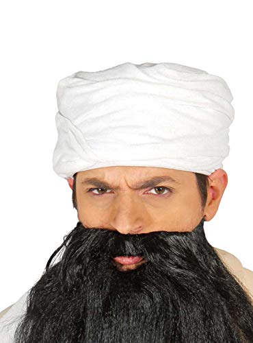 Fiestas Guirca Blanc chiffon turban arabe pour déguiser Sheik une taille adulte