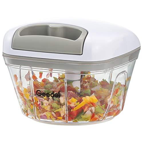 Manuelle Zerkleinerer, Zwiebeln Knoblauch Schneider Chopper für Küche, Leicht Zu Reinigender Gemüseschneider Ideal für Gemüse, Obst,Fleisch ohne Knochen (500 ML)