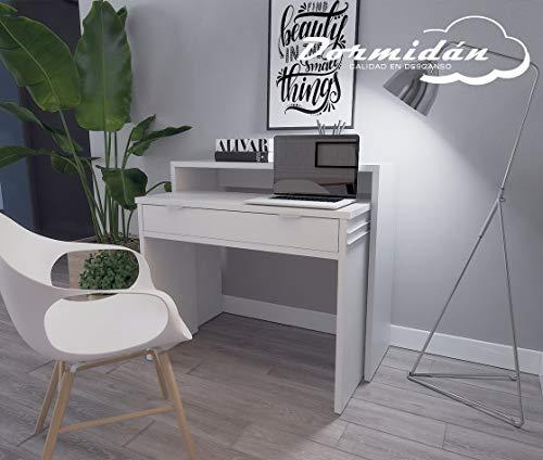 Dormidán- Mesa Escritorio Extensible, Consola Estudio, (Blanco)
