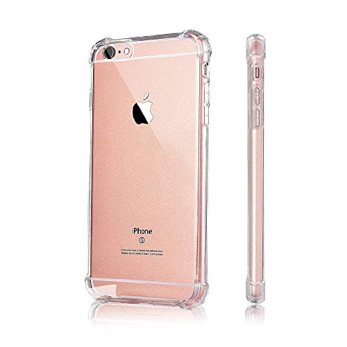 Amazon Brand - Solimo Mobile Cover (Soft & Flexible Shockproof Back Case with Cushioned Edges) Transparent for Apple iPhone 6 Plus