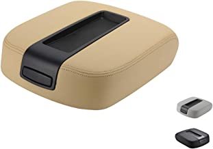 VeCarTech Center Console lid Arm Rest Cover Replacement for 2007-2014 Chevy Chevrolet Silverado,Tahoe,Suburban,Avalanche,GMC Sierra,Yukon,Yukon XL Armrest Center Console Cover Lid Kit 15217111(Tan)