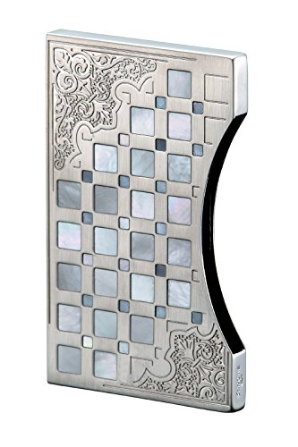 Find Cheap Sarome business card case EXNA1-02 Sliver arabesque / mother of pearl
