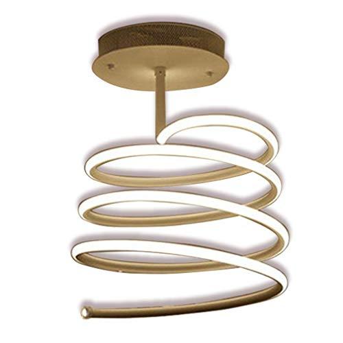 MQJ Luz de Techo Regulable Led Moderno Espiral Diseño Lámpara de Techo Creativa Minimalista Metal Lámpara de Acrílico Interior Decorativo Iluminación Accesorio para Sala de Estar Dormitorio Corredor