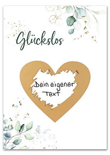 JoliCoon - Rubbellose selber machen - Personalisierte Geschenke oder Gutschein Karte Geburtstag, Hochzeit, Valentinstags-Karte