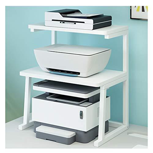 Soportes para impresoras Impresora de escritorio Soporte de la impresora de 2 capas Stand Metal Fijam Frame Marco lateral, usado para la máquina de fax de oficina Estante de la máquina de la impresora