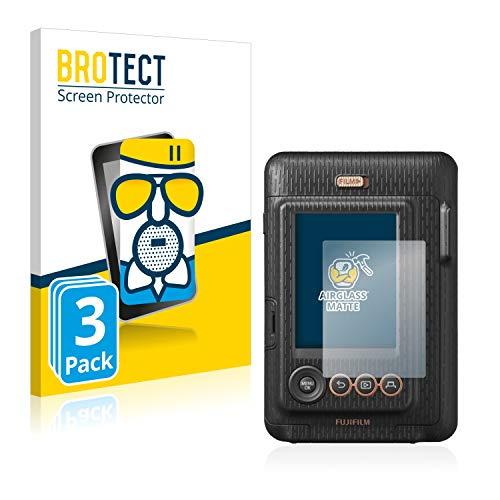 BROTECT Entspiegelungs-Panzerglasfolie kompatibel mit Fujifilm Instax Mini LiPlay (3 Stück) - Anti-Reflex Panzerglas Schutz-Folie Matt