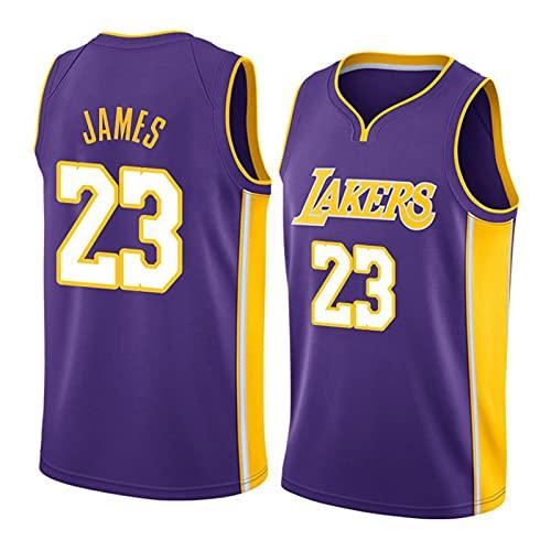 THZCMY NBA Vintage Jersey Lakers # 23 James Jersey Camiseta de Baloncesto de Malla para Adultos