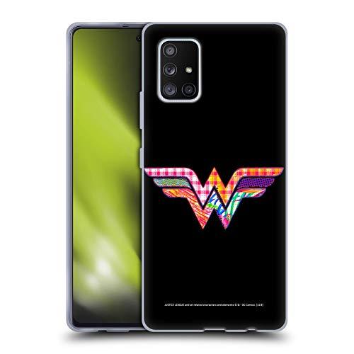 Head Case Designs Licenciado Oficialmente Justice League DC Comics Mujer Maravilla Iconos eléctricos Oscuros Carcasa de Gel de Silicona Compatible con Samsung Galaxy A51 5G (2020)