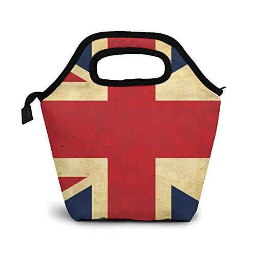 TUYUFBAGS Britische britische Flagge Mittagessen Tasche,Lunch Bag Wiederverwendbare Picknick Tasche Thermisch Kühler Multifunktion Lebensmittel Behalter mit